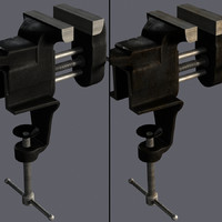 3d model of table vise