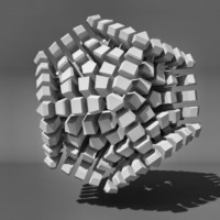 3d model voronoi tesselation abstract