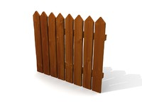 simple fence 3d 3ds
