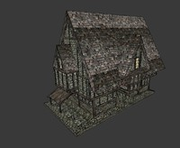 fantasy house 3d model