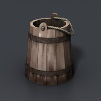 maya bucket wooden wood