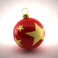 3d christmas decoration model
