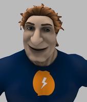 c4d character voltman