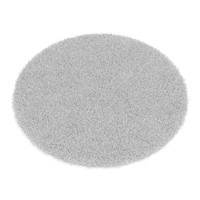 Round Light Grey Rug