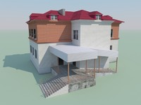 3d low-polygonal building games model