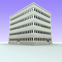 3d office building model