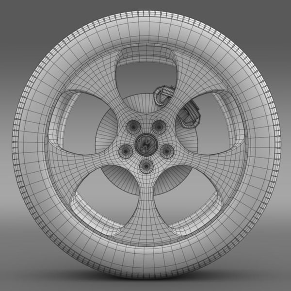 3ds max polo gti 2011 - VW Polo GTI 2011 wheel... by Creative Idea Studio