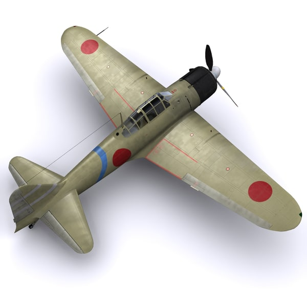 3d model a6m zero fighter air - A6M2 Zero Reisen - Tainan Air Group... by file404