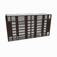 model of residential office building