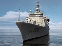 meko 220 frigate ship 3d max