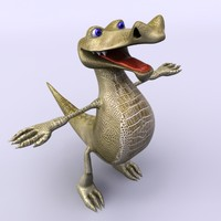 3d cartoon crocodile