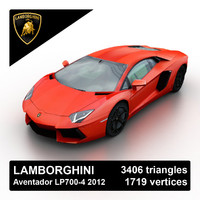 2012 lamborghini aventador lp700-4 3d model