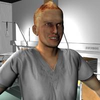 3d male medical staff