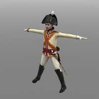 chevalier guard private 3d model