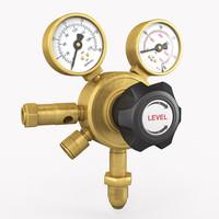 3d gauge pressure gas