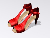 3d red shoes model