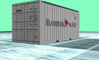 3d teu shipping container