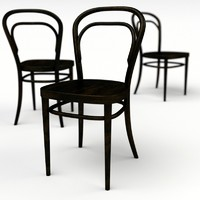 3d model thonet 14 chair