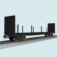Railroad / Train Car: Flatbed