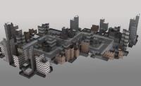3d cityscape city street