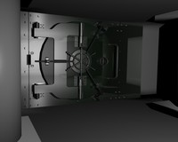 3d model vault safe door metal