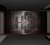 High-tech Vault With Lazers And full Locking Animation