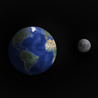 earth moon 3d model