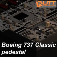 maya boeing 737 classic pedestal