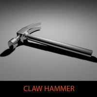 metallic claw hammer 3d model