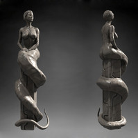 Woman Worm statue