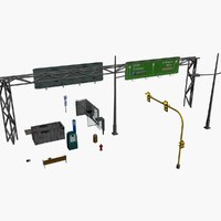 3d model streetside objects