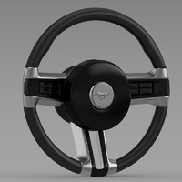 3ds max mustang steering wheel