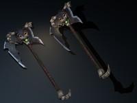 axe fantasy 3d obj