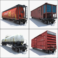 Train 4 Freight Cars