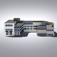 modern generic building architectural 3d model