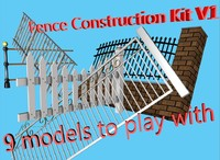 3d model fence construction