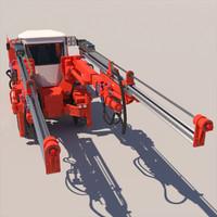 sandvik dd421 mining jumbo 3d 3ds