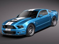 mustang gt500 shelby cobra 3d 3ds