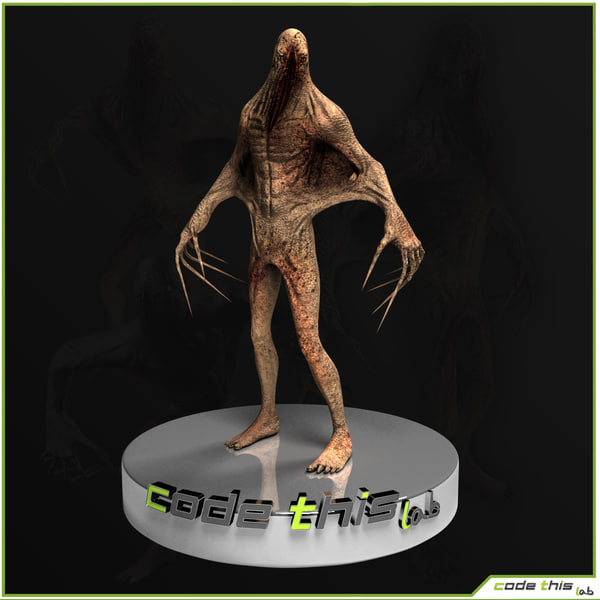 3d model of realtime monster leather ghost - Monster Leather Ghost... by codethislab