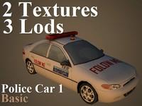 3d model police car 1 basic