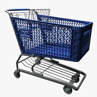 3d grocery store shopping cart