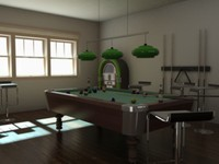3d model pool room