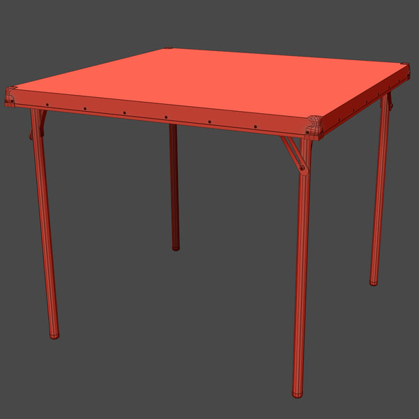 classic folding card table 3d model - Card Table... by zedaxis