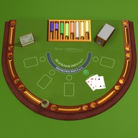 3d model of black jack table