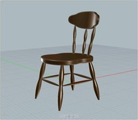 3d classic chair