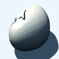 3d obj cracked dinosaur egg