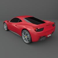 3d model ferrari 458 italia