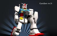 3d model gundam rx-78-2 polys