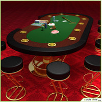 casino poker cards table felt 3d max
