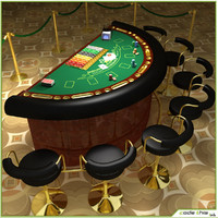 3d model casino table blackjack